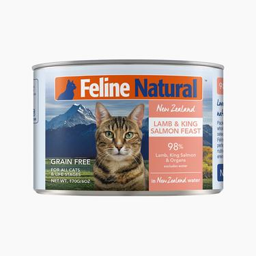 Feline Natural 天然无谷羊肉帝王鲑猫罐头170g 新西兰进口