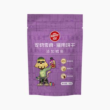 顽皮 Happy100猫用鳕鱼饼干 85g 猫零食 营养丰富 小图 (0)