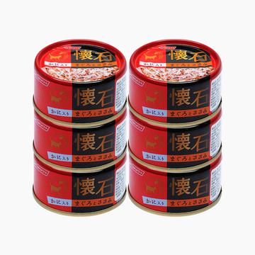 日清 怀石金枪鱼鸡脯肉加蟹肉猫罐头 80g*6 鲜嫩可口 柔软易食 小图 (0)