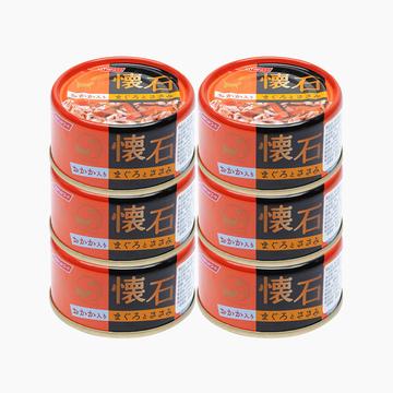 日清 怀石金枪鱼鸡脯肉加鲣鱼节猫罐头 80g*6 肉质鲜嫩 消化率高 小图 (0)