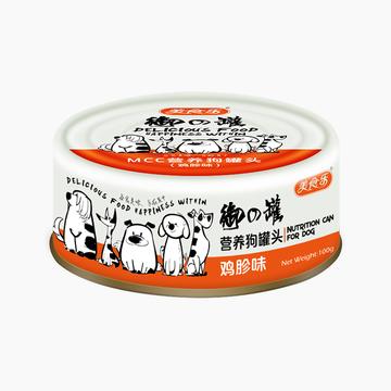 美食乐 营养鸡胗味狗罐头 100g 狗湿粮 小图 (0)