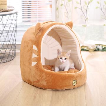伊丽 可爱猫咪系列蒙古包宠物窝 柔软舒适  犬猫通用 小图 (0)