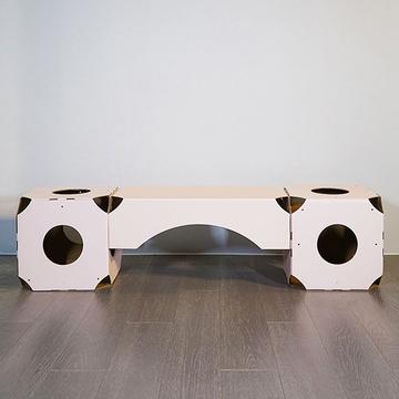 御喵宫 随心猫居系列连桥猫抓板猫玩具DIY 猫窝套装 小图 (0)