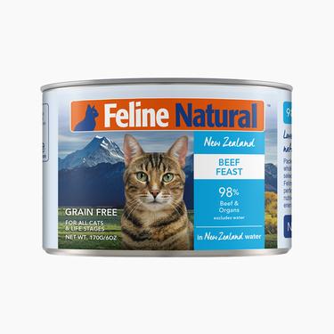 Feline Natural 天然无谷牛肉猫罐头 170g 猫湿粮 98%含肉量 新西兰进口