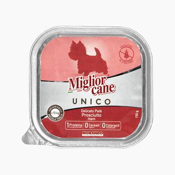 茉兰朵 猪肉火腿配方肉泥狗罐头 150g 88%肉含量 意大利原装进口 小图 (0)
