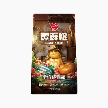 顽皮 Happy100醇鲜粮成猫粮含鳀鱼鸭肉配方 10kg