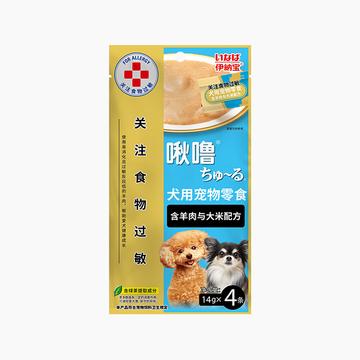 伊纳宝 啾噜4条装 含羊肉与大米配方  14g*4 狗零食 小图 (0)