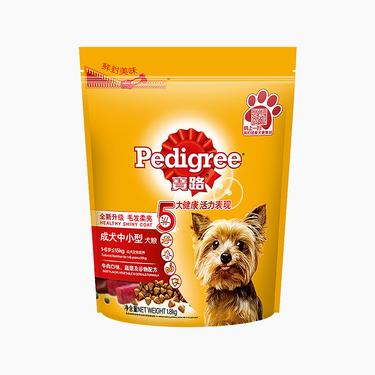 aa宝路Pedigree 牛肉肝蔬菜中小型成犬粮 1.8kg