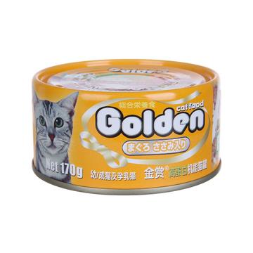 金赏Golden 金枪鱼鸡肉丝味猫罐头 170g 小图 (0)