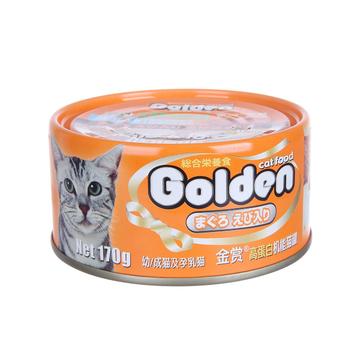 金赏Golden 金枪鱼虾仁味猫罐头 170g 小图 (0)