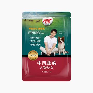 怡亲Yoken 牛肉蔬菜幼犬湿粮鲜封包 110g 小图 (0)