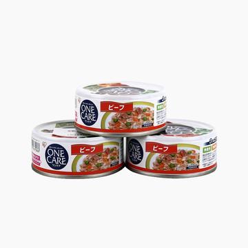 爱丽思Iris 牛肉野菜味狗罐头湿粮 100g*3罐