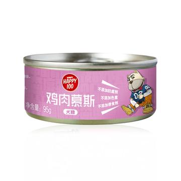 顽皮Wanpy happy100鸡肉慕斯狗罐头 95g 小图 (0)