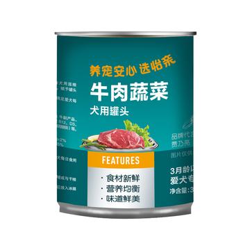 怡亲Yoken 牛肉胡萝卜配方狗罐头 375g