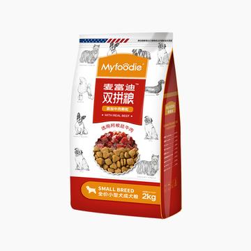 麦富迪 牛肉双拼粮小型犬成犬粮 2kg 小图 (0)