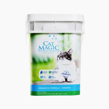 喵潔客Catmagic 膨潤土清潔貓砂 30磅 洋甘菊香 低粉塵強吸水 美國原裝進口