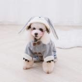它它Touchdog 秋冬新款宠物衣服兔子装泰迪雪纳瑞小型犬美高梅mgm娱乐衣服