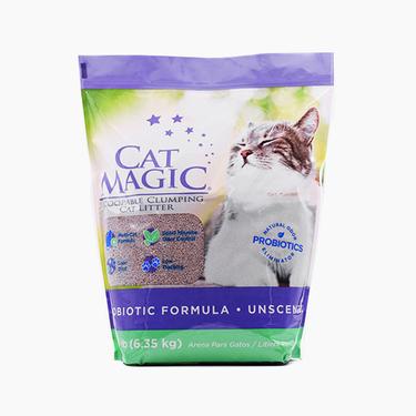 喵潔客 膨潤土清潔貓砂14磅 無香型 快速吸水 高強凝結