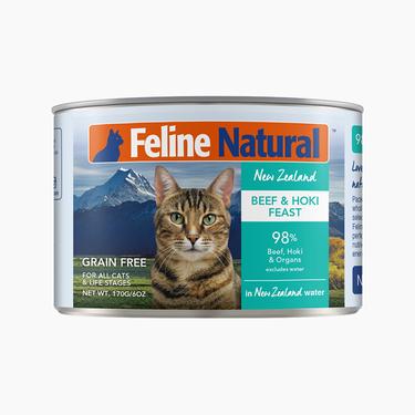 Feline Natural 天然無谷牛肉鱈魚貓罐頭 170g 新西蘭進口